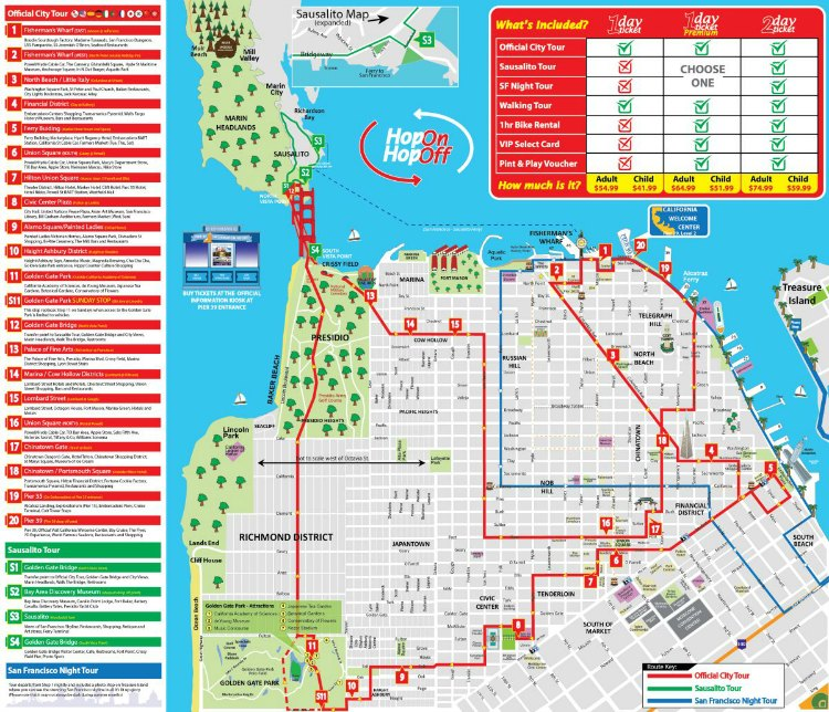 Hop On Hop Off Bus Tours in San Francisco: My Top Picks Hop On Off San Francisco Map on