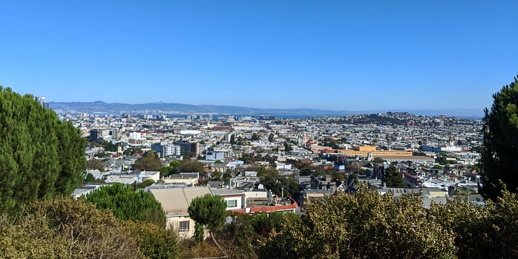 The top of Corona Heights in San Francisco
