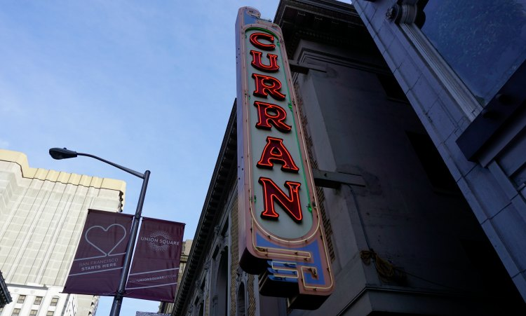 Curran Theater Outside Sign