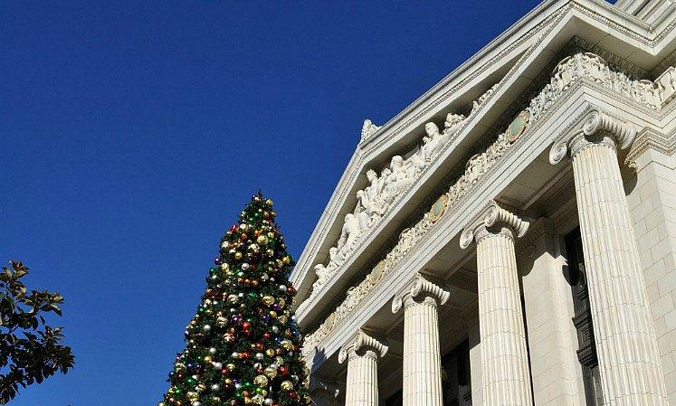 Clear blue skies in San Francisco in December