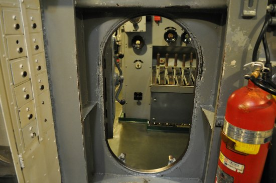 doorway in the uss pampanito