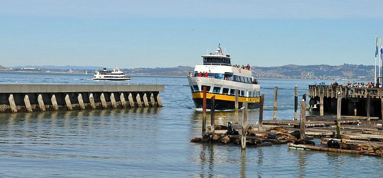 Ferries in SF's Fisherman's Wharf