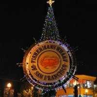 Fishermans Wharf Holiday Sign