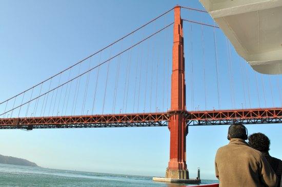 golden gate bridge from sf bay cruise