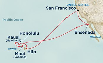 Hawaii Cruise Route