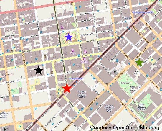 map of hilton union square