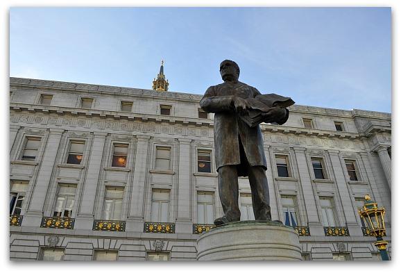History Civic Center Statue
