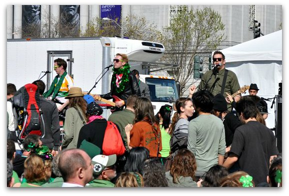 irish band at festival