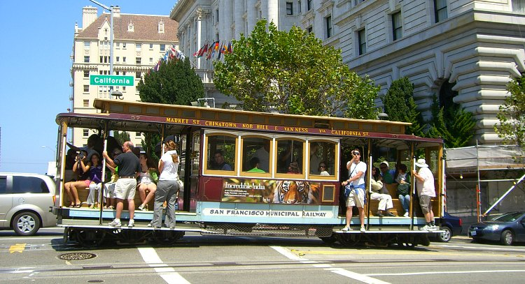 Jumping Aboard a Cable Car in SF