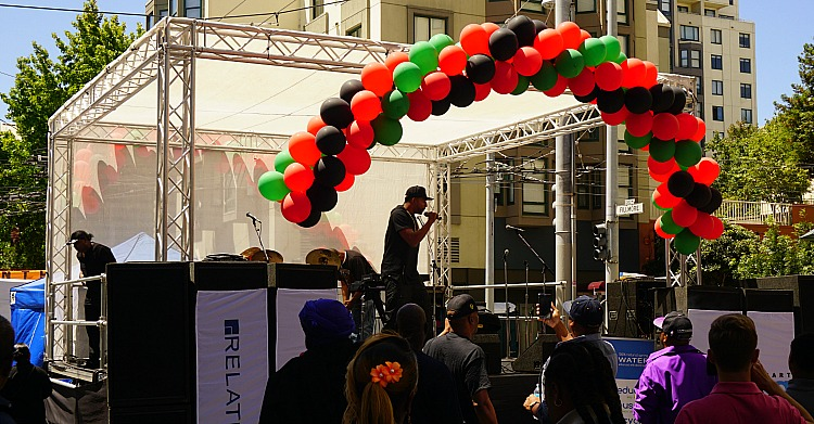 Live Performance at the Juneteenth Festival in San Francisco