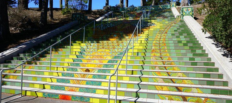 Lincoln Park Steps in the Sunset