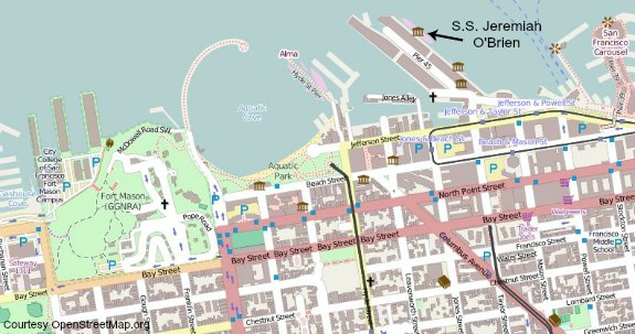 brews on bay map