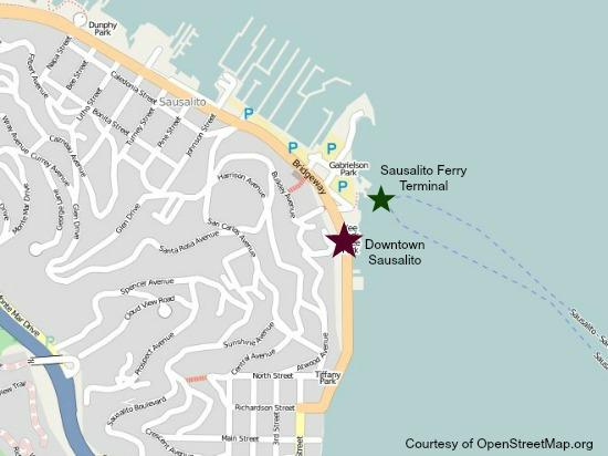 Map Sausalito Ferry Terminal