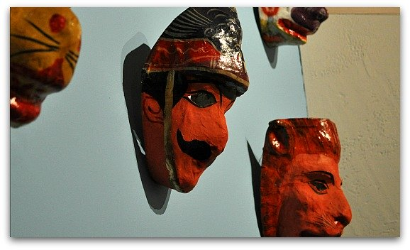 Masks at the Mexican Museum SF
