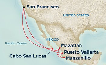 mexican riviera cruise route