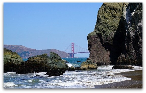 Mile Rock Beach in San Francisco
