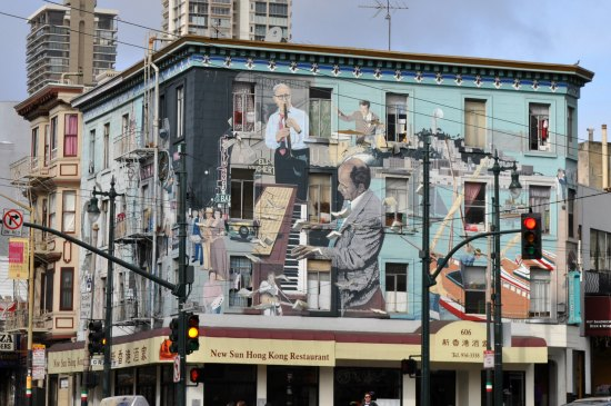 north beach jazz mural