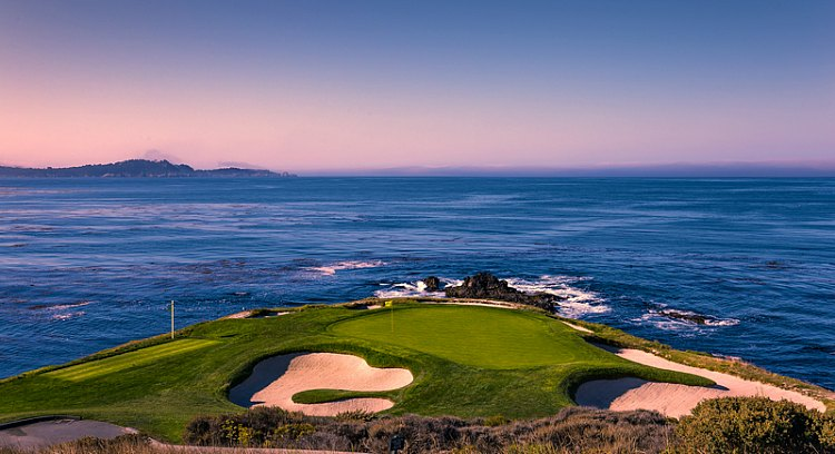 Pebble Beach Golf Course on the water