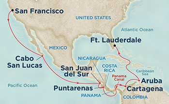 Princess Panama Route