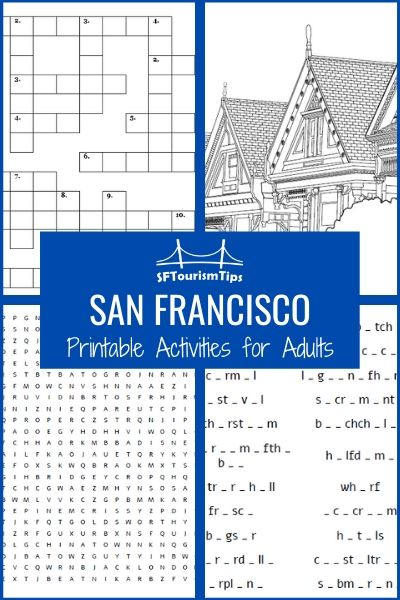 Printable Activities for Adults: Fun San Francisco Crosswords, Puzzles and More