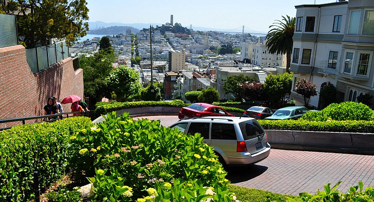 Russian Hill and Lombard Street