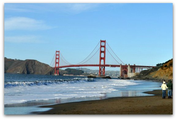 baker beach in sf