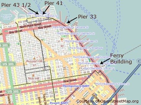 san francisco ferry terminal map