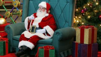 Santa in December
