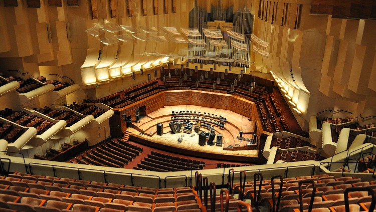 Second Tier in Davies Symphony Hall in San Francisco