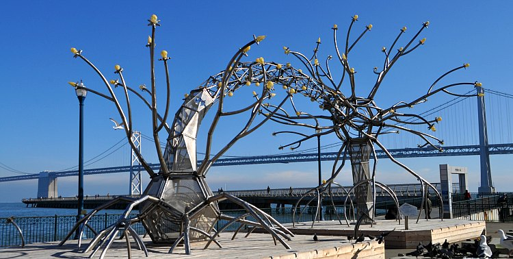 Silver Art Along the SF Waterfront