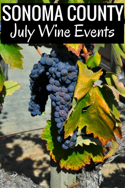 July Wine Tasting Events in Sonoma County
