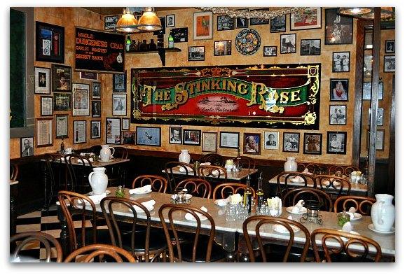 stinking rose dining room
