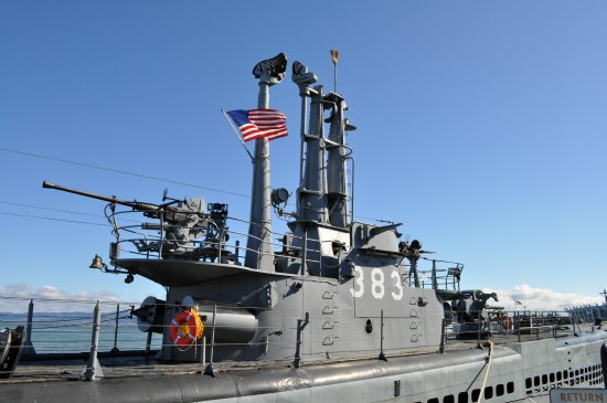 top deck uss pampanito
