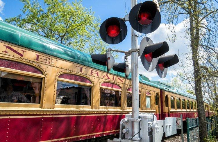 Wine train in Napa Valley