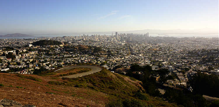 Twin Peaks looking at downtown San Francisco