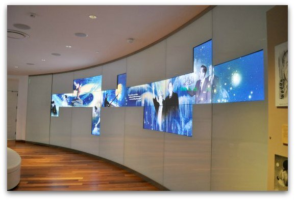 video wall disney museum