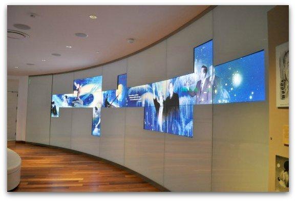 video wall disney museum