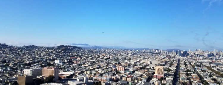 Views from Bernal Heights Park