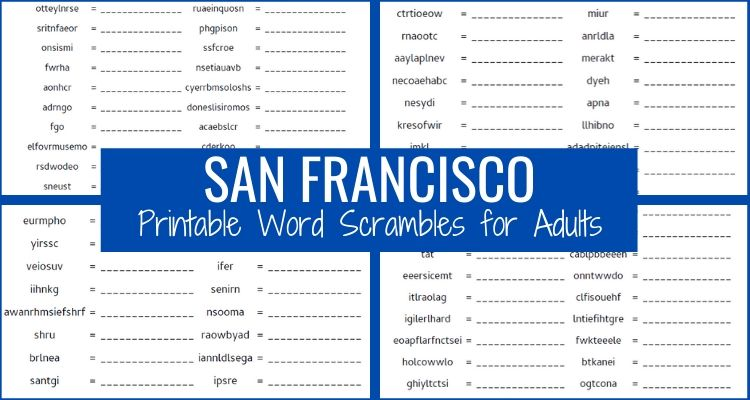 Word Scambles About SF Main Graphic