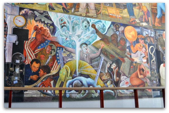 world war ii in mural