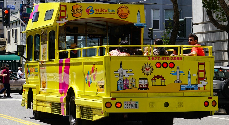 Yellow Bus in SF