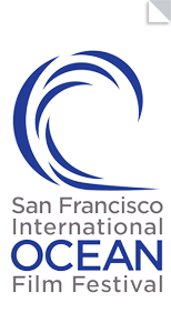 The official logo of the ocean film festival in san francisco