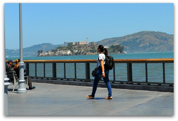 Alcatraz island from the pedicab tour