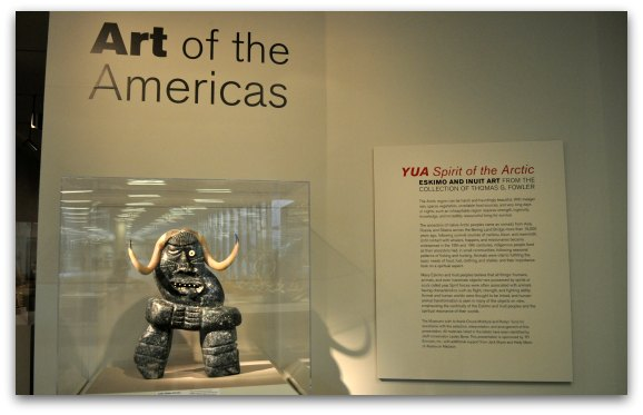 The entrance to the Art of the Americas Gallery at the de Young Fine Arts Museum in San Francisco's Golden Gate Park