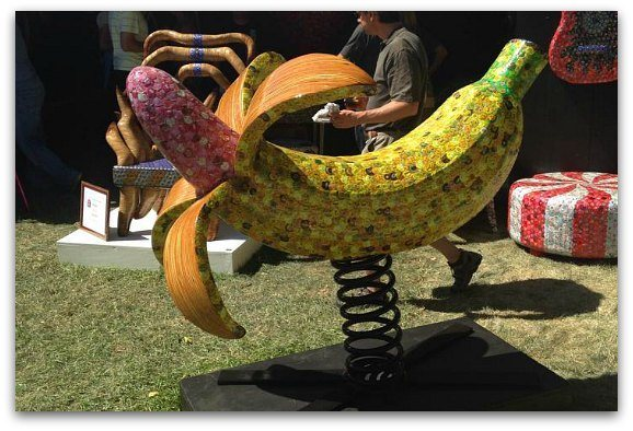 A large banana as art at the Sausalito Art Festival.