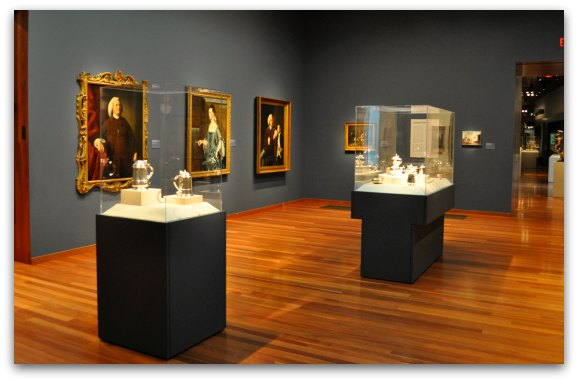 The Art in America Gallery in the de Young Fine Arts Museum SF in Golden Gate Park