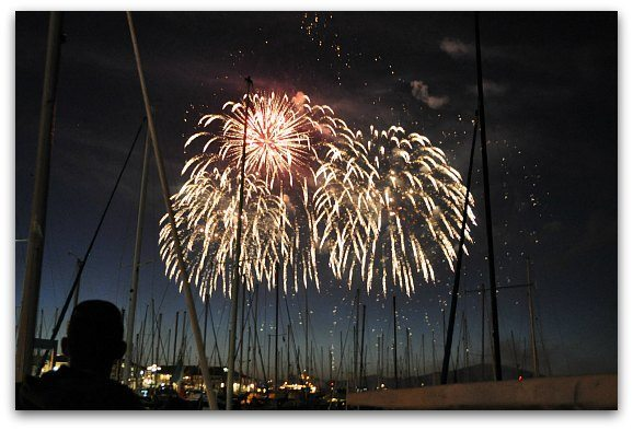 Fireworks over the SF Bay.