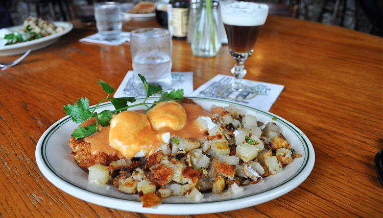 A breakfast of Crab Benedict from Buena Vista Cafe in San Francisco