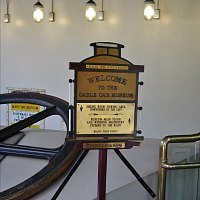 Sign inside the Cable Car Museum