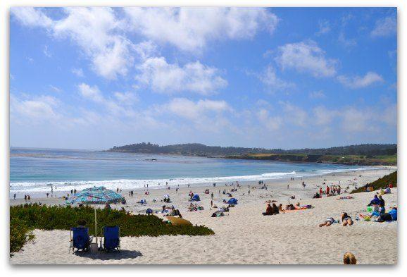 The beach in Carmel, California